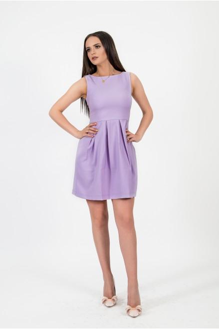 Мини рокля в лила