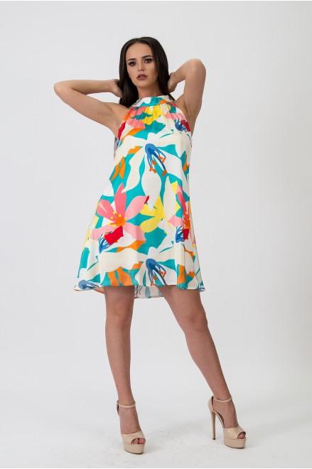 Коктейлна рокля на цветя