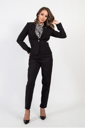 Елегантен панталон в черен цвят