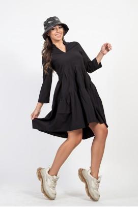 Черна ефирна рокля