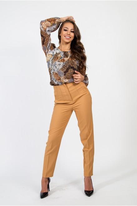 Елегантен панталон в бежов цвят