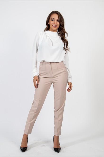 Елегантен панталон в цвят пудра